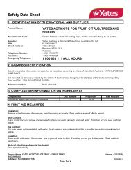 yates acticote for fruit, citrus, trees and shrubs - MSDS