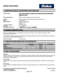wash & wear kitchen and bathroom semi gloss - MSDS