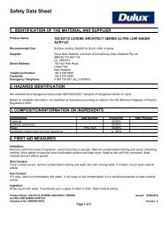 levene architect series ultra low sheen acrylic - MSDS