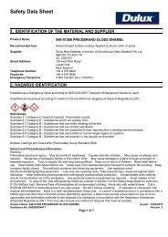 pricebrand gloss enamel - MSDS