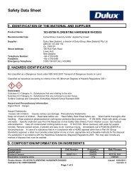 florentine hardener rhodes - Safety Data Sheets