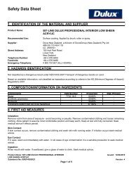 dulux professional interior low sheen acrylic - MSDS