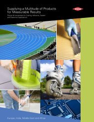 Supplying a Multitude of Products for Measurable Results - The Dow ...