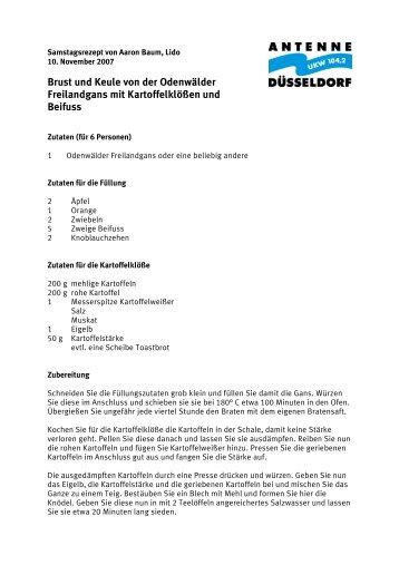 Brust und Keule von der Odenwälder ... - Antenne Düsseldorf