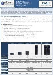 EMC VNX Systeme: Einfach, effizient und leistungsstark - antauris AG