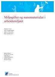 Miljøgifter og nanomaterialer i arbeidsmiljøet - Stami