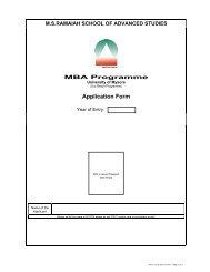 Application Form - MS Ramaiah School of Advanced Studies