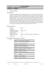 Module Information Module Title Machinery Design Group Project ...