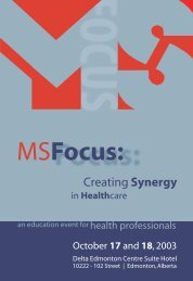 MSFocus: - Multiple Sclerosis Society of Canada
