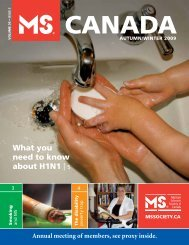 What you need to know about H1N1 5 - Multiple Sclerosis Society of ...