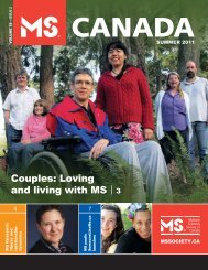Summer 2011 - Multiple Sclerosis Society of Canada