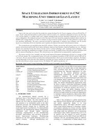 space utilization improvement in cnc machining unit through lean ...