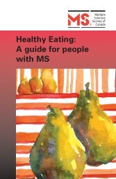 Healthy Eating: A guide for people with MS - Multiple Sclerosis ...