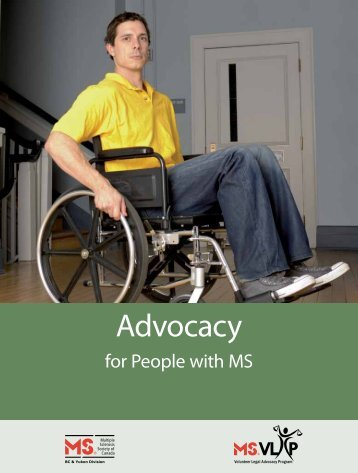 Advocacy - Multiple Sclerosis Society of Canada