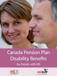 Canada Pension Plan Disability Benefits - Multiple Sclerosis Society ...