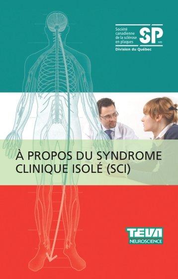 À propos du syndrome clinique isolé (SCI) - Multiple Sclerosis ...
