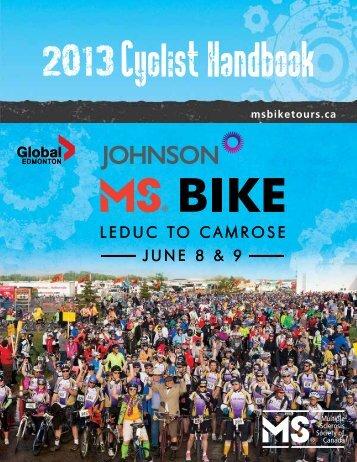 Cyclist Handbook - Multiple Sclerosis Society of Canada