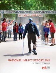 2011 National Impact Report - Multiple Sclerosis Society of Canada