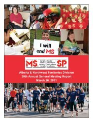 Treasurer's Report - Multiple Sclerosis Society of Canada