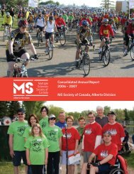 Consolidated Annual Report 2006 - Multiple Sclerosis Society of ...
