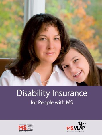 Disability Insurance - Multiple Sclerosis Society of Canada