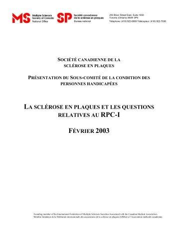 Société canadienne de la sclérose en plaques - Multiple Sclerosis ...
