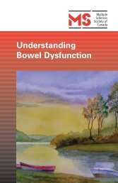 Understanding Bowel Dysfunction - Multiple Sclerosis Society of ...