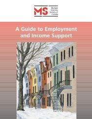 A Guide to Employment and Income Support - Multiple Sclerosis ...