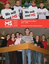 Annual Report 2007-2008.indd - Multiple Sclerosis Society of Canada