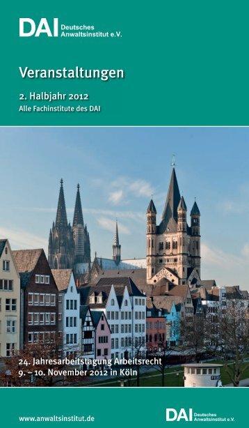 120307 Titel DAI komplett.indd - Deutsches Anwaltsinstitut eV