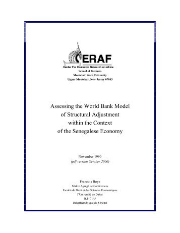 structural adjustment economic performance Structural adjustment, economic performance, and aid dependency in tanzania by nisha agrawal and zafar ahmed world bank and michael mered and roger nord.