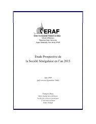 Etude prospective de la société Sénégalaise en 2015