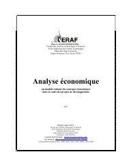 Analyse économique - Montclair State University