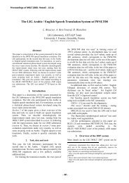 Besacier, L., Ben Youssef, A., Blanchon, H. (2008). - GIPSA-Lab