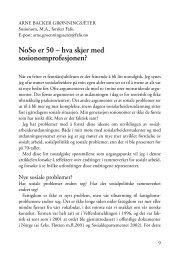 NoSo er 50 – hva skjer med sosionomprofesjonen? - FO