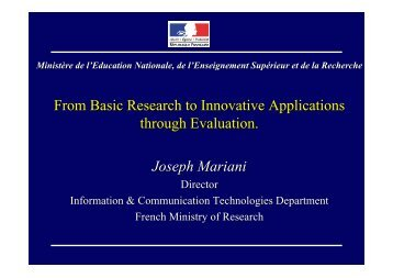 From basic research to innovative applications through evaluation