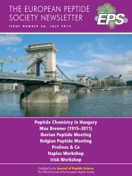 EPS Newsletter July 2012 - European Peptide Society