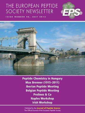 EPS Newsletter July 2012 - European Peptide Society