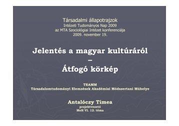 pdf 403 kb - MTA Szociológiai Kutatóintézet - Magyar Tudományos ...