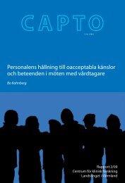 Personal och oacceptabla känslor - Landstinget i Värmland