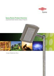 Epoxy Resins Product Overview - The Dow Chemical Company