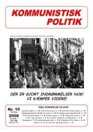Kommunistisk Politik 10, 2008