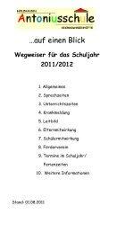Wegweiser für das Schuljahr 2011/2012 - Antoniusschule
