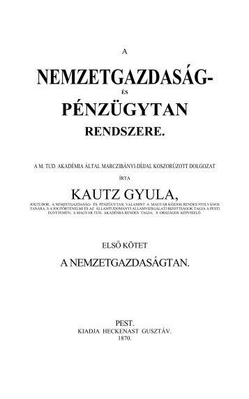 NEMZETGAZDASÁG- - MTDA A Magyar Társadalomtudományok ...