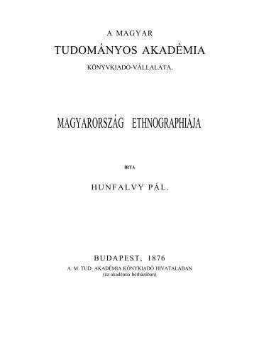Magyarország ethnographiája
