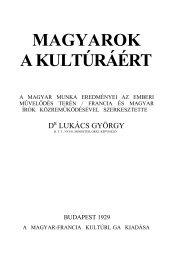 Magyarok a kultúráért