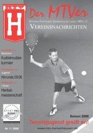 Tennisjugend greift an! - MTV Herrenhausen