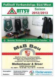 Ausgabe 126 - MTSV I - mtsv- Fussball in Hohenwestedt