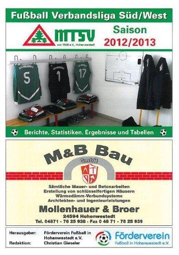 Ausgabe 122 - MTSV I - mtsv- Fussball in Hohenwestedt