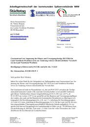 Arbeitsgemeinschaft der kommunalen Spitzenverbände NRW - Ver.di